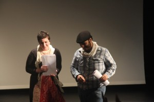 الممثلان هنري إندراوس وخلود طنوس- تصوير: عصام داود
